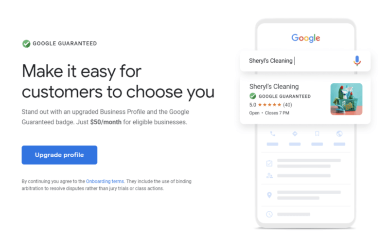 Upgraded Google My Business Profile